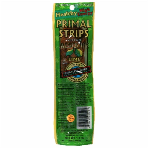 Primal Spirit Mesquite Lime Meatless Jerky Strips Perspective: front