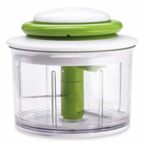 ChefN Vegetable Chopper - Green/White Perspective: front