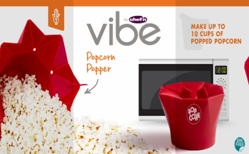 Vibe by Chef'N Popcorn Popper - Red Perspective: front