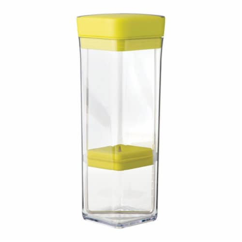 Chefn 6587422 Plastic Dishwasher Herb Storage, Clear & Yellow Perspective: front