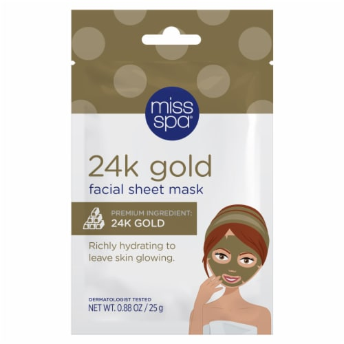 Miss Spa 24K Gold Facial Sheet Mask Perspective: front