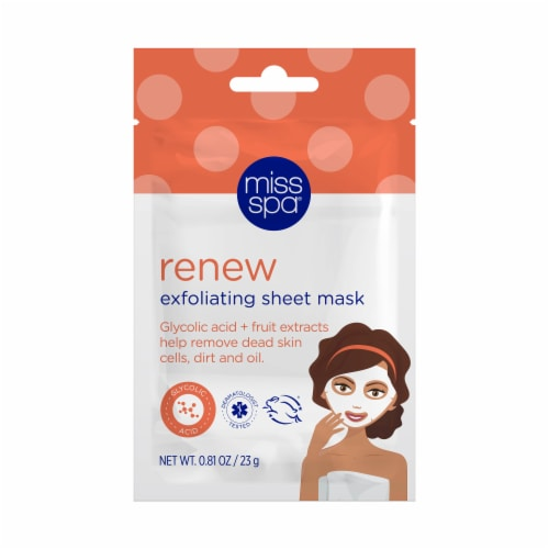 Miss Spa Renew Exfoliating Sheet Mask Perspective: front