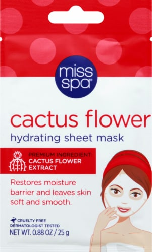 Miss Spa Cactus Flower Hydrating Sheet Mask Perspective: front