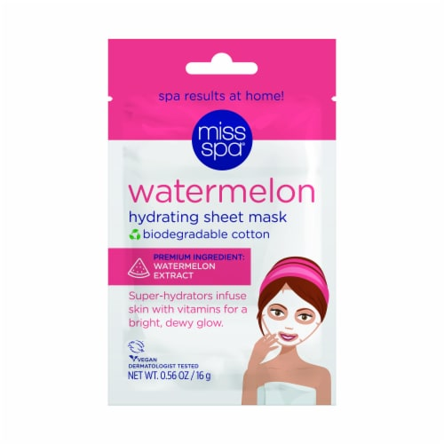 Miss Spa Watermelon Hydrating Sheet Mask Perspective: front