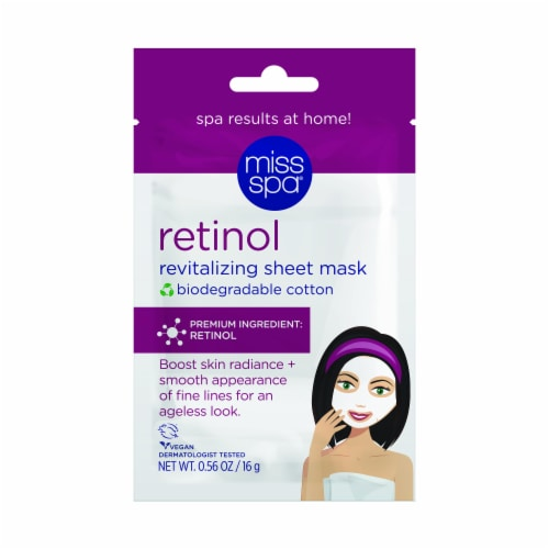Miss Spa Retinol Revitalizing Sheet Mask Perspective: front