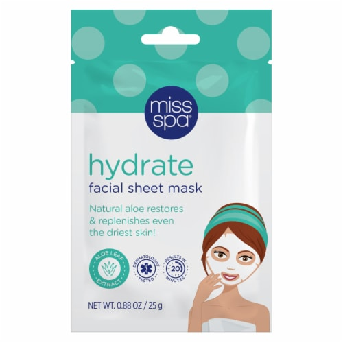 Miss Spa Hydrate Facial Sheet Mask Perspective: front
