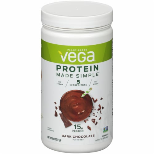 Vega Protein Made Simple Dark Chocolate Drink Mix Perspective: front