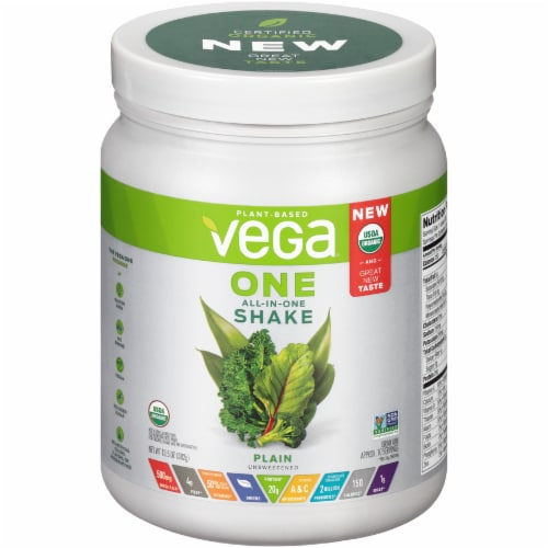 Vega One Plain All-in-One Shake Drink Mix Perspective: front