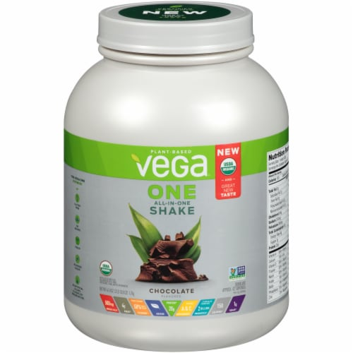 Vega One Organic All-In-One Chocolate Shake Drink Mix Perspective: front