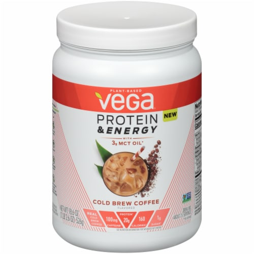 Vega Protein & Energy Cold Brew Coffee Drink Mix Perspective: front