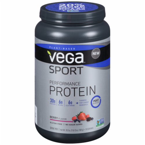 Vega Sport Plant-Based Performance Protein Berry Drink Mix Perspective: front