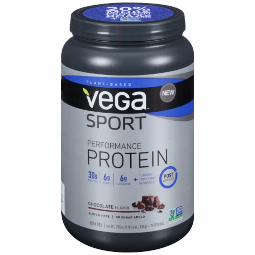 Vega Sport Performance Chocolate Protein Drink Mix Perspective: front