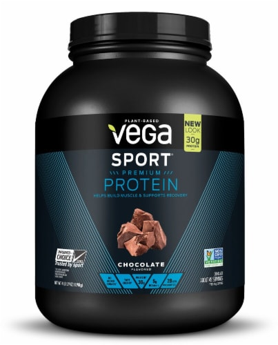 Vega  Sport Protein Powder   Chocolate Perspective: front