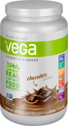 Vega Essentials Shake Chocolate Drink Mix Perspective: front
