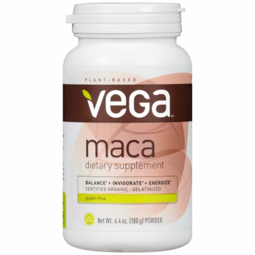 Vega Maca Balance / Invigorate / Energize Powder Drink Mix Perspective: front