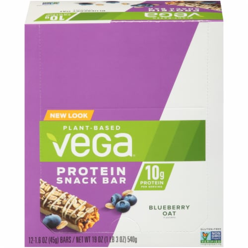 Vega Blueberry Oat Protein Snack Bar Perspective: front