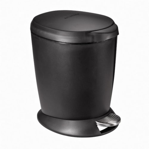 SimpleHuman Round Step Can - Black Perspective: front