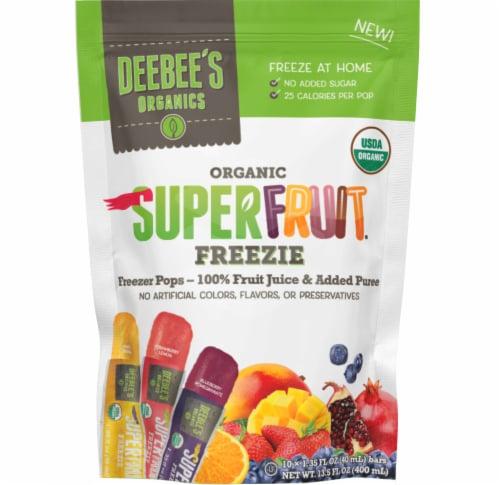 DeeBee's Organic Superfruit Freezie Freezer Pops Perspective: front