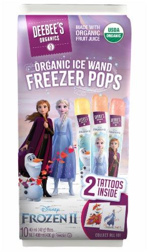 DeeBee's Organic Disney Frozen 2 Ice Wand Freezer Pops 10 Count Perspective: front