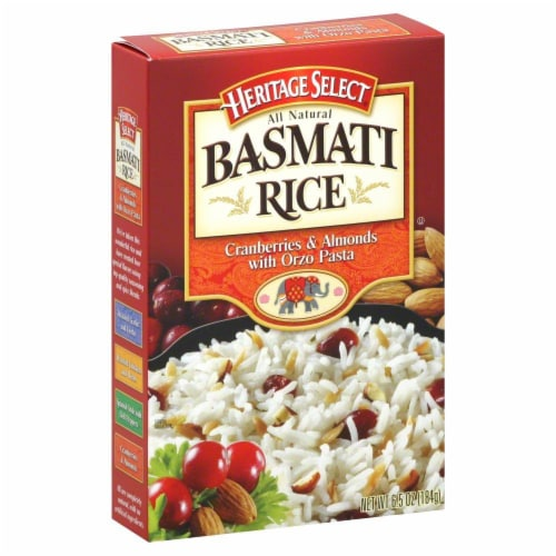 Heritage Select Cranberry & Almond Basmati Rice Perspective: front