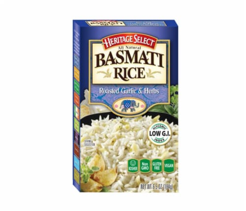 Heritage Select Roasted Garlic & Herbs Basmati Rice Perspective: front