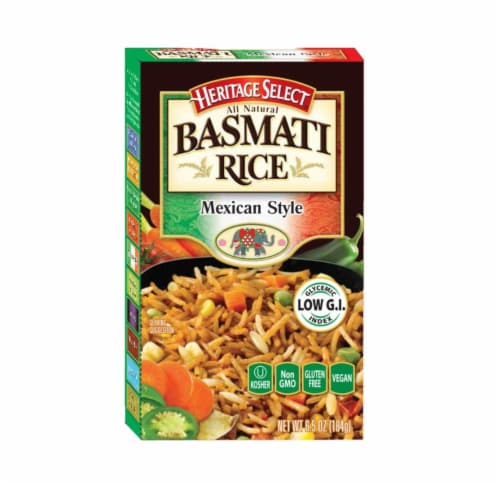 Heritage Select Mexican Style Basmati Rice Perspective: front