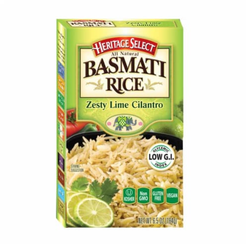 Heritage Select  Zesty Lime Cilantro Basmati Rice Perspective: front