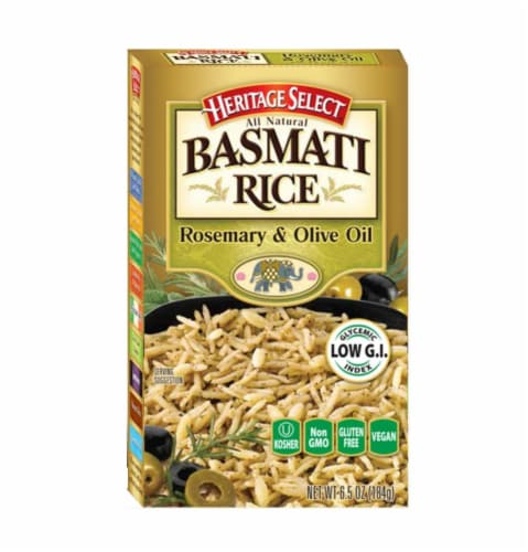 Heritage Select Rosemary & Olive Oil Basmati Rice Perspective: front