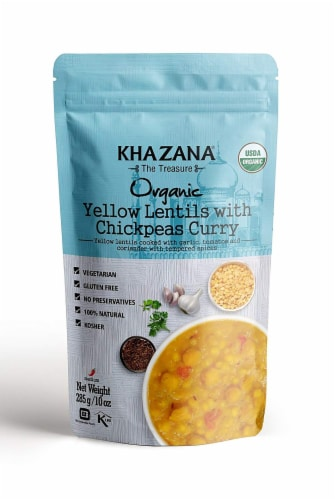 Khazana Organic Yellow Lentils with Chickpeas Curry Perspective: front
