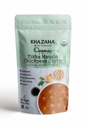 Khazana Organic Tikka Masala Chickpeas Curry Perspective: front
