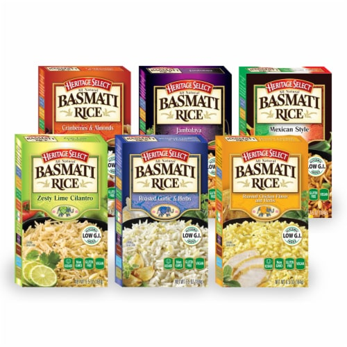 Heritage Select Basmati Rice Variety Pack Perspective: front