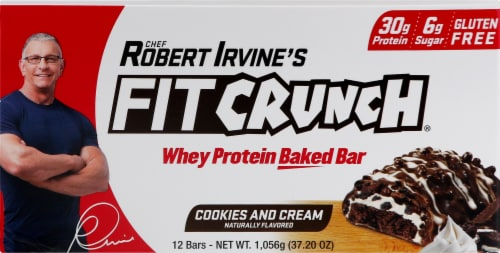 Fitcrunch Cookies & Cream Bars Perspective: front