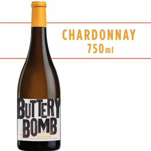 Buttery Bomb Chardonnay White Wine Perspective: front