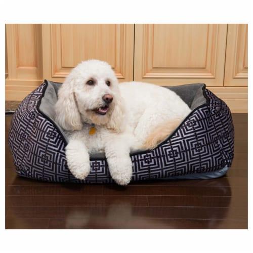 Trellis Cuddler Pet Bed by Pet Maison for Unisex - 24 x 36 x 12 Inch Pet Bed Perspective: front