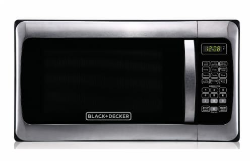 BLACK + DECKER 1000-Watt Microwave Oven - Black / Stainless Steel Perspective: front
