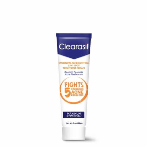 Clearasil Stubborn Acne Control 5 In 1 Spot Treatment Cream Perspective: front