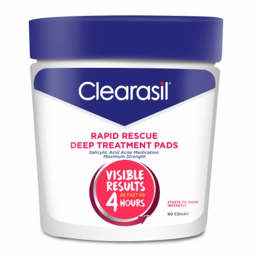 Clearasil Rapid Rescue Deep Treatment Pads Perspective: front