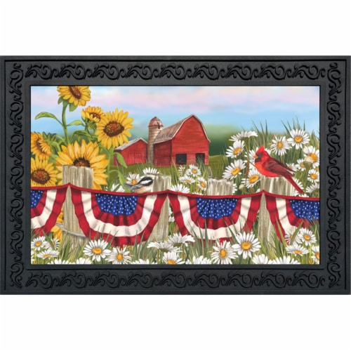Briarwood Lane BLD00387 America the Beautiful Doormat Perspective: front