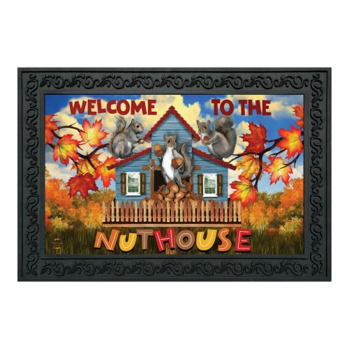 Briarwood Lane BLD01343 Fall Doormat Welcome Nuthouse Doormat Perspective: front