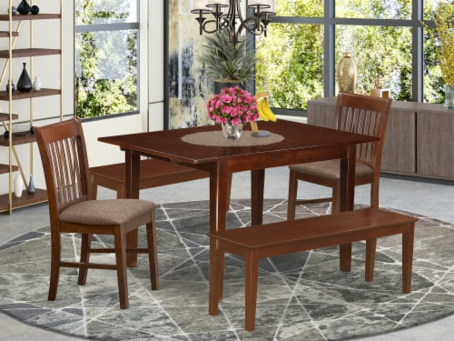 MLNO5C-MAH-C 5 Pc dinette set-small Dining Tables and 4 Kitchen Dining Chairs Perspective: front
