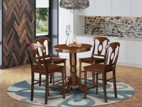 5 Pc counter height set-counter height Table & 4 counter height Chair. Perspective: front