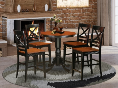 5 PC counter height pub set-counter height Table & 4 counter height Chair. Perspective: front