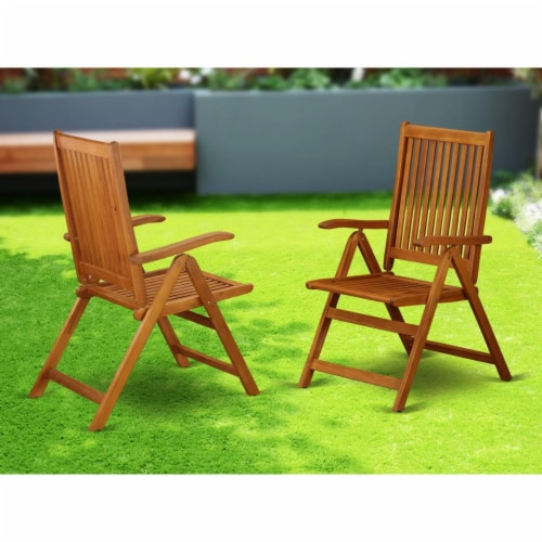 Set of 2 Chairs BCNC5NA 5 Position Outdoor-Furniture folding arm Chair -Set of two Perspective: front