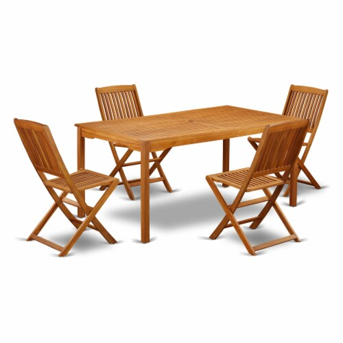 CMCM5CWNA This 5 Pc Acacia Outdoor-Furniture patio Set Perspective: front
