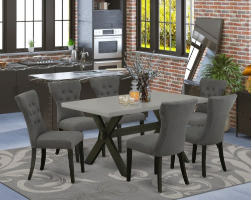X696Ga650-7 - 7-Piece Table Set - 6 Chairs and a Table Hardwood Frame Perspective: front