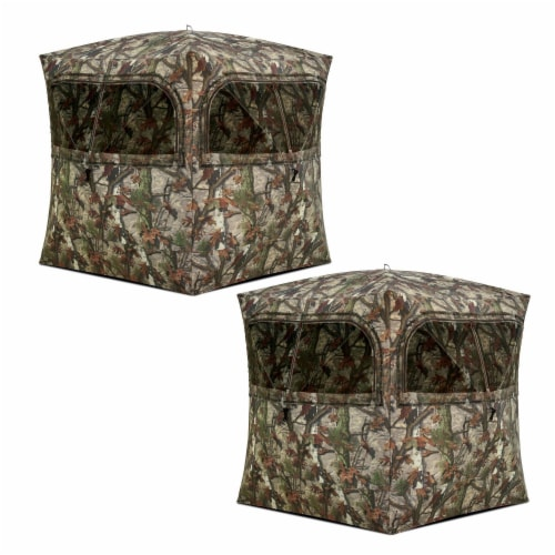 Barronett Grounder 350 Bloodtrail Camo Pop Up Ground Hunting Blind (2 Pack) Perspective: front