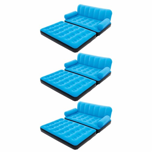 Bestway Multi-Max Inflatable Air Couch or Double Bed with AC Air Pump (3 Pack) Perspective: front