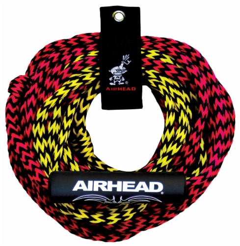 Airhead Tube Rope 2 Section w/ Floater 2 Rider Towable Lake Boat Water (6 Pack) Perspective: front