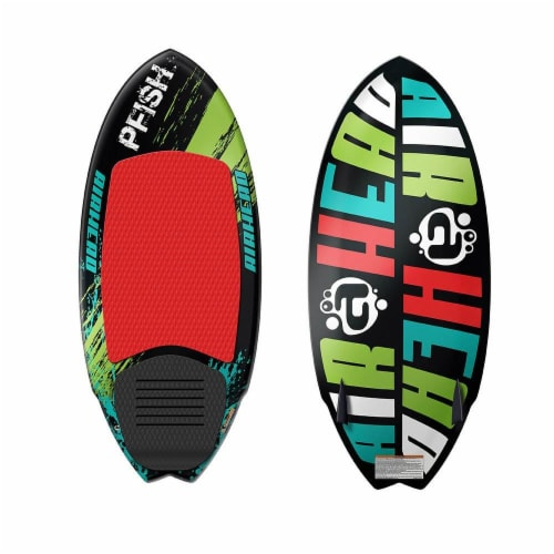 Airhead Pfish Beginner to Advanced 2 Fin Skim Style Wakesurf WakeBoard (2 Pack) Perspective: front