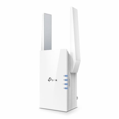 TP-Link RE505X AX1500 Wi-Fi 6 Range Extender Perspective: front